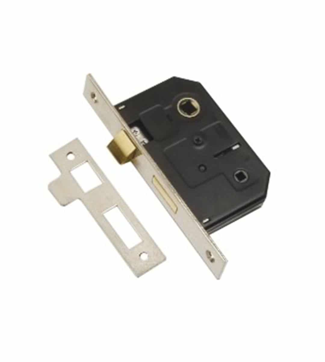 Bathroom Mortice Lock 76mm Nickel