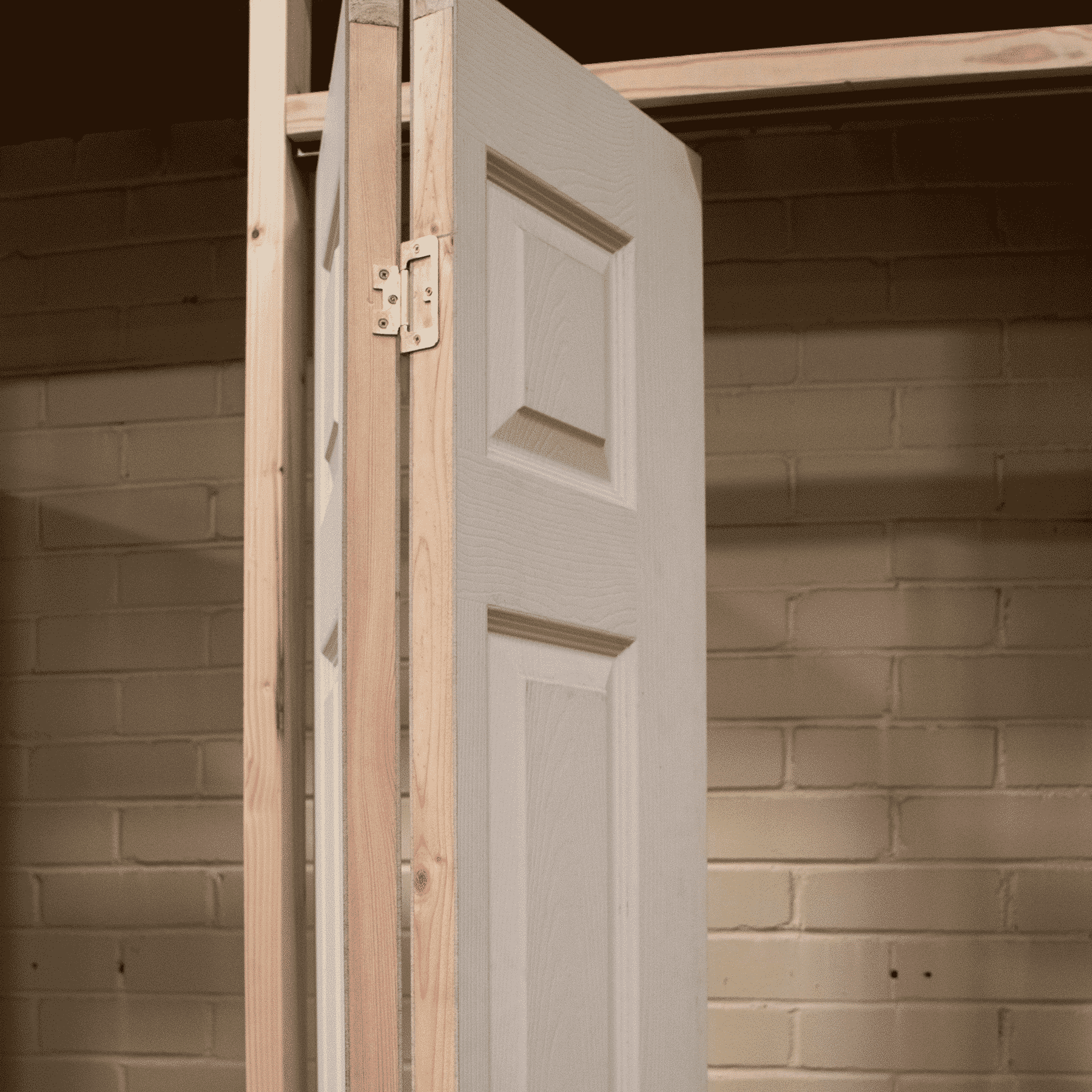 White Bifold Door Shaker 6 Panel With Kit Shawfield Doors