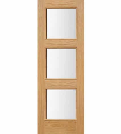 Brienz 3 Glass Panel Oak Door - 1981mm-x-838mm-x-35mm