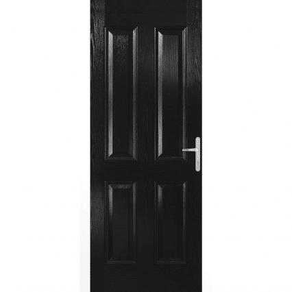 Carsington Black External Door Set - 2070mm-x-890mm-x-70mm-right-opening