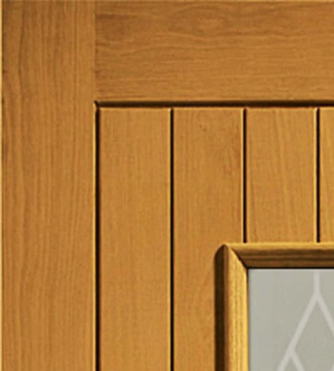 chancery oak exterior glass front door