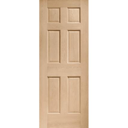 Colonial 6 Panel Internal Oak Door - 2032mm-x-813mm-x-35mm