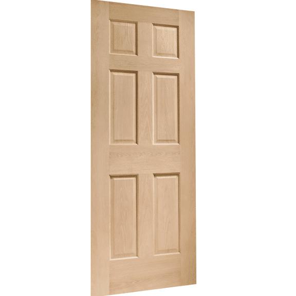 Colonial 6 Panel Interior Oak Door