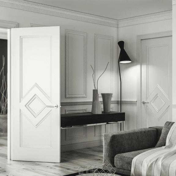 deanta ascot internal white primed door