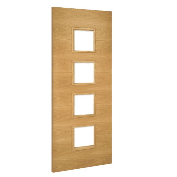 deanta augusta glazed interior oak door