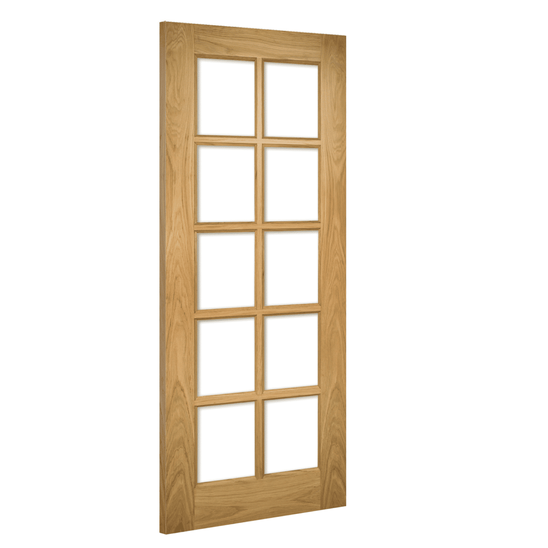 deanta bristol glazed interior oak door