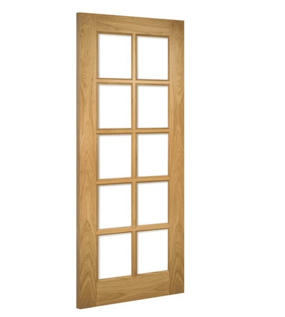 deanta bristol glazed interior oak door