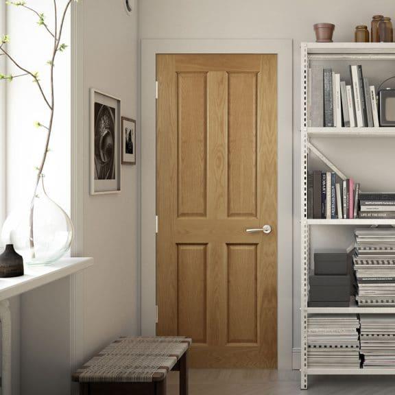 deanta bury 4 panel oak door