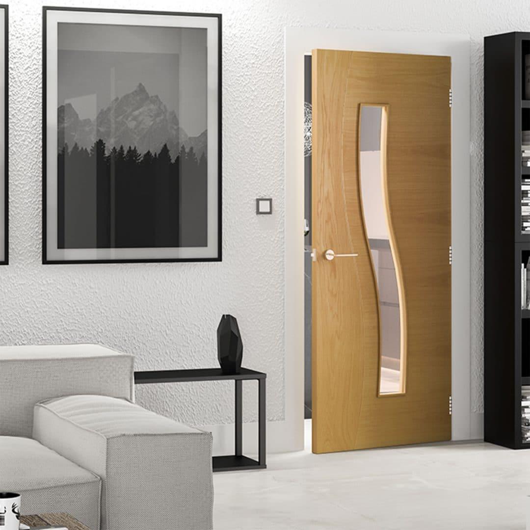 deanta cadiz glazed interior door
