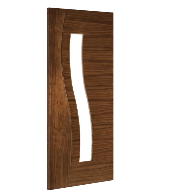 deanta cadiz glazed interior walnut door