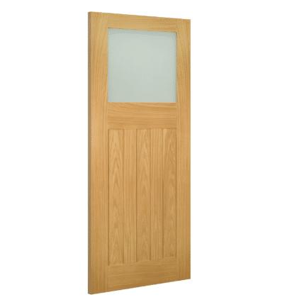Deanta Cambridge Glazed Interior Oak Door - 1981mm-x-610mm-x-35mm