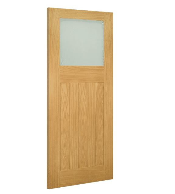 deanta cambridge glazed interior oak door