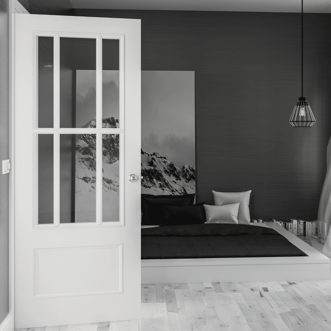 deanta canterbury white glazed interior door