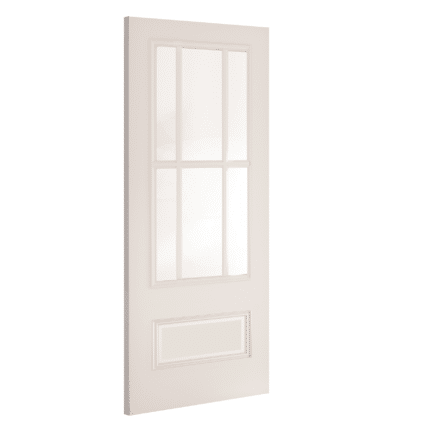 Deanta Canterbury Glazed White Internal Door - 1981mm-x-686mm-x-35mm