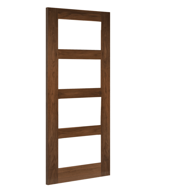 deanta coventry clear glazed walnut internal door