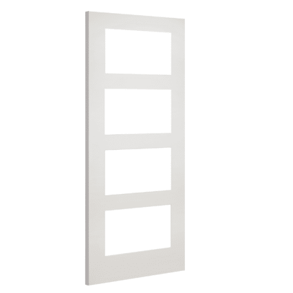 Deanta Coventry White Clear Glazed Internal Door - 1981mm-x-610mm-x-35mm
