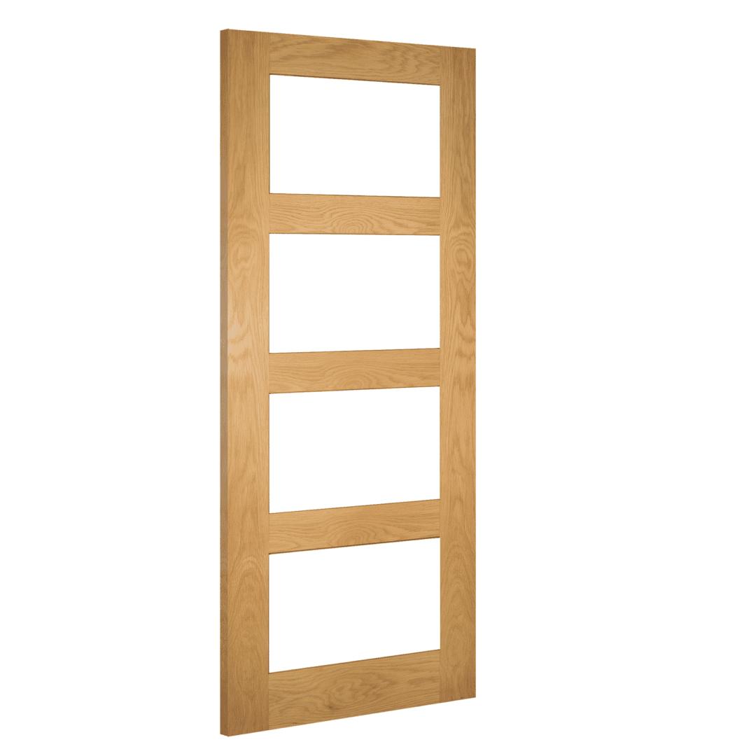 deanta coventry oak clear glazed internal door