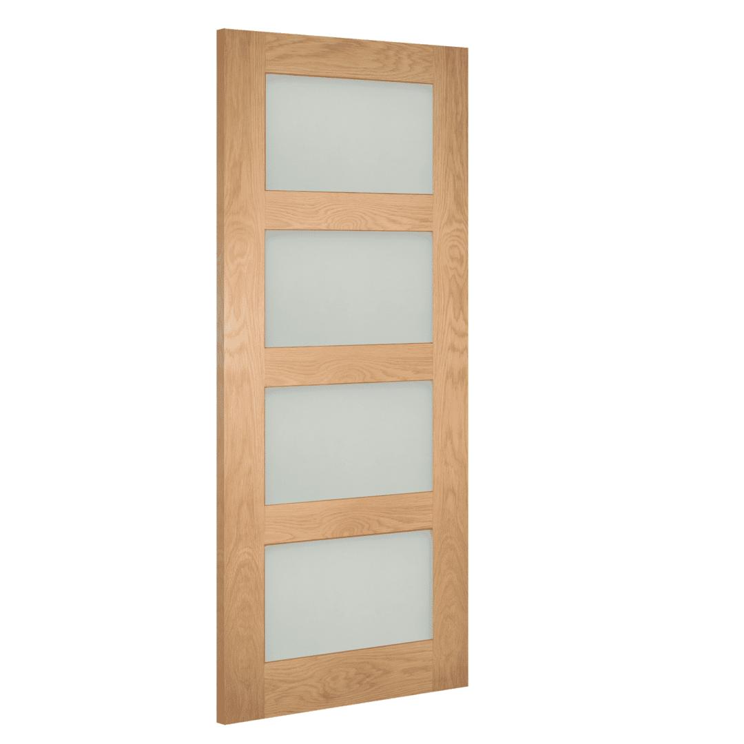 deanta coventry oak obscure glazed internal door