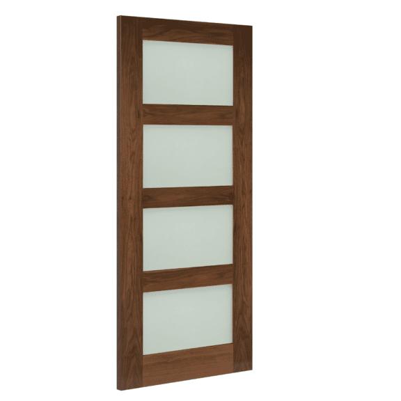 deanta coventry obscure glazed walnut internal door