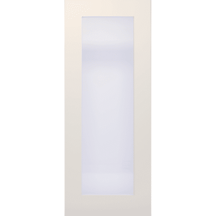 Deanta Denver White Primed Frosted Glazed Interior Door - 1981mm-x-686mm-x-35mm