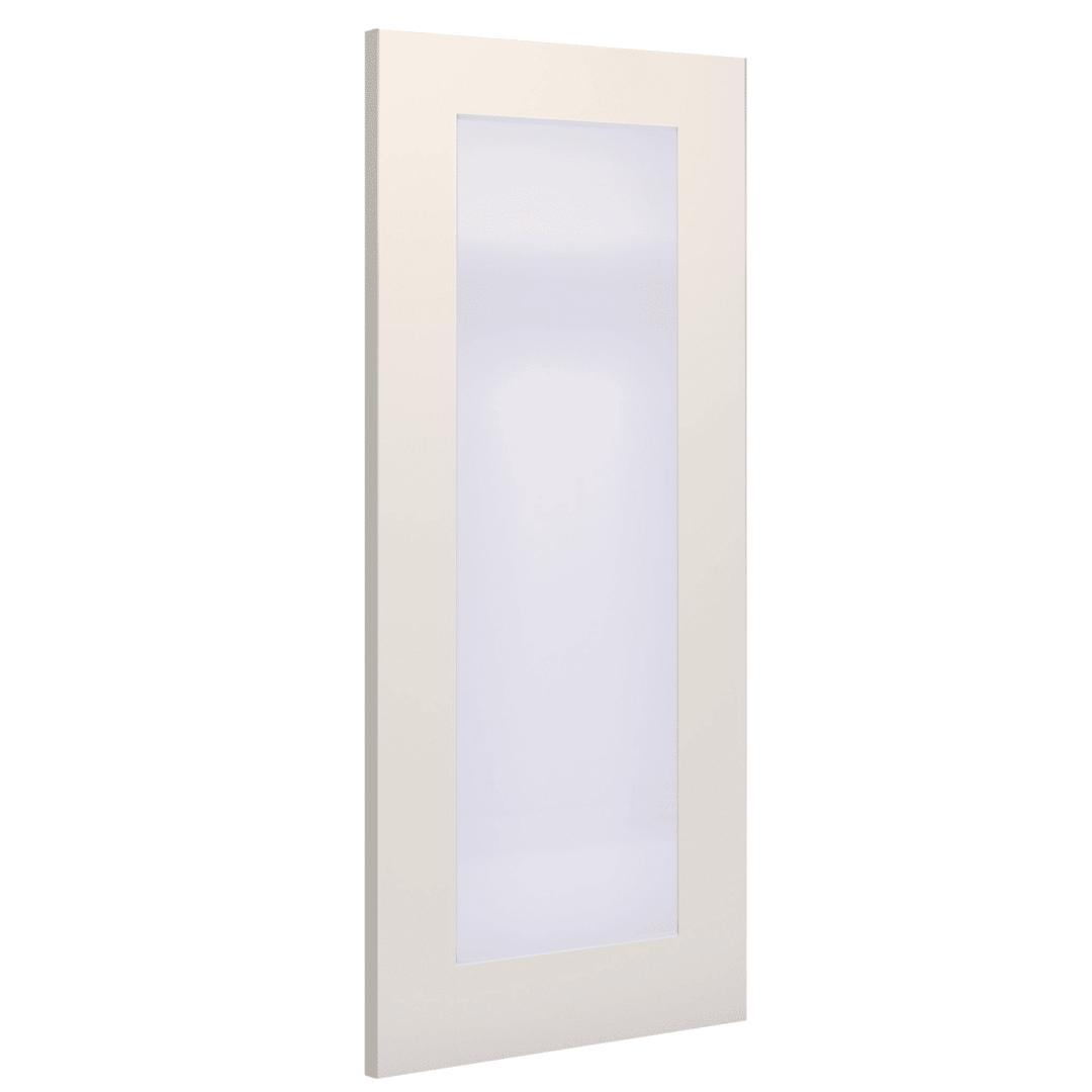 deanta denver white primed obscure glazed interior door