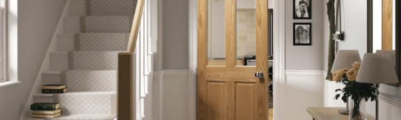 deanta doors internal oak 4 panel door scene