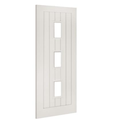 Deanta Ely White Glazed Internal Door - 1981mm-x-610mm-x-35mm