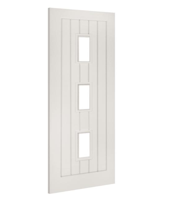deanta ely glazed white internal door