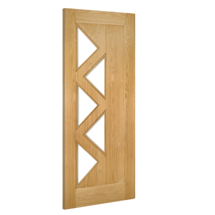 Deanta Ely Prefinished 5L Glazed Interior Oak Door - 1981mm-x-610mm-x-35mm