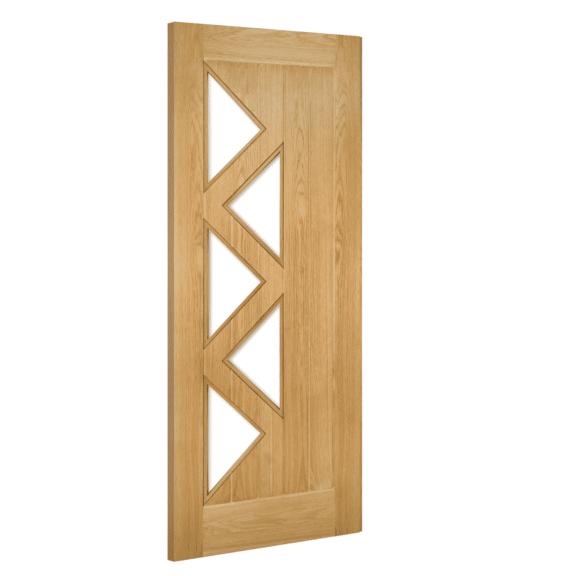 deanta ely prefinished 5l glazed interior oak door