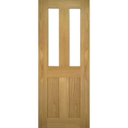 Deanta Eton Clear Glazed Internal Door - 1981mm-x-610mm-x-35mm