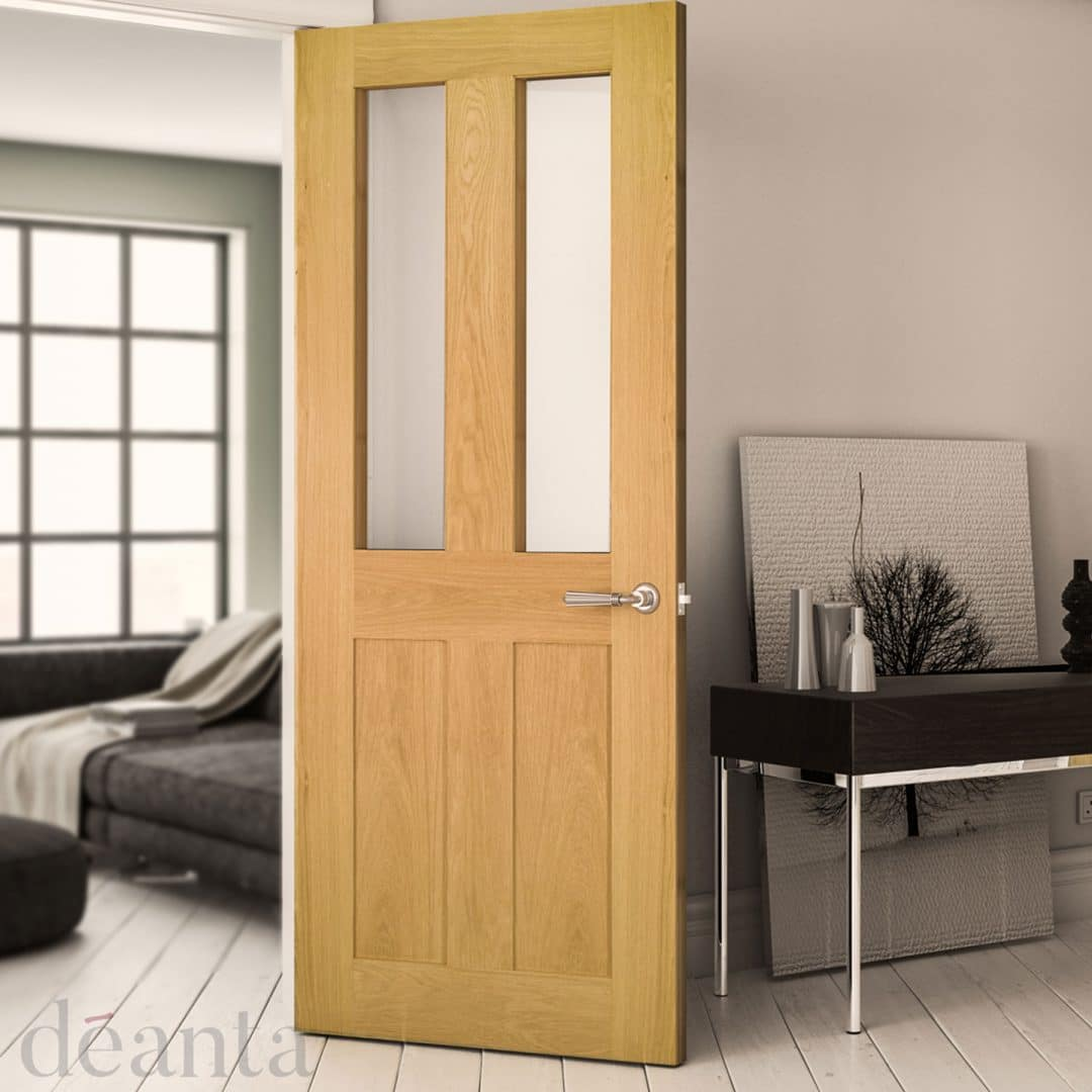 deanta eton glazed oak door