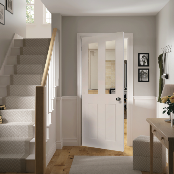 deanta eton glazed white prime interior door