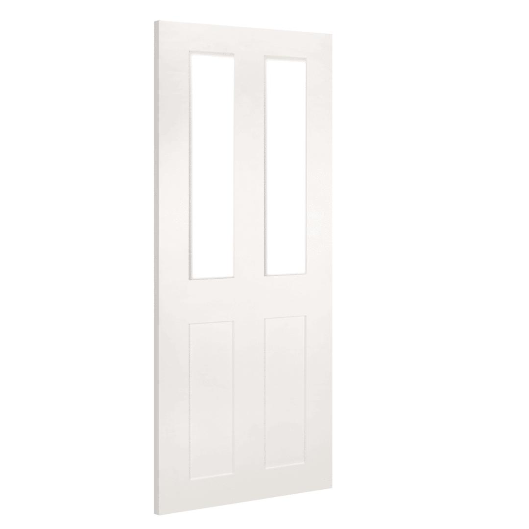 deanta eton glazed white prime internal door