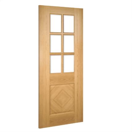 Deanta Kensington Glazed Interior Oak Door - 1981mm-x-610mm-x-35mm