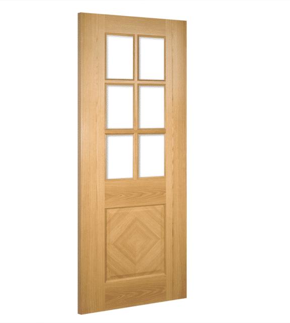 deanta kensington glazed interior oak door