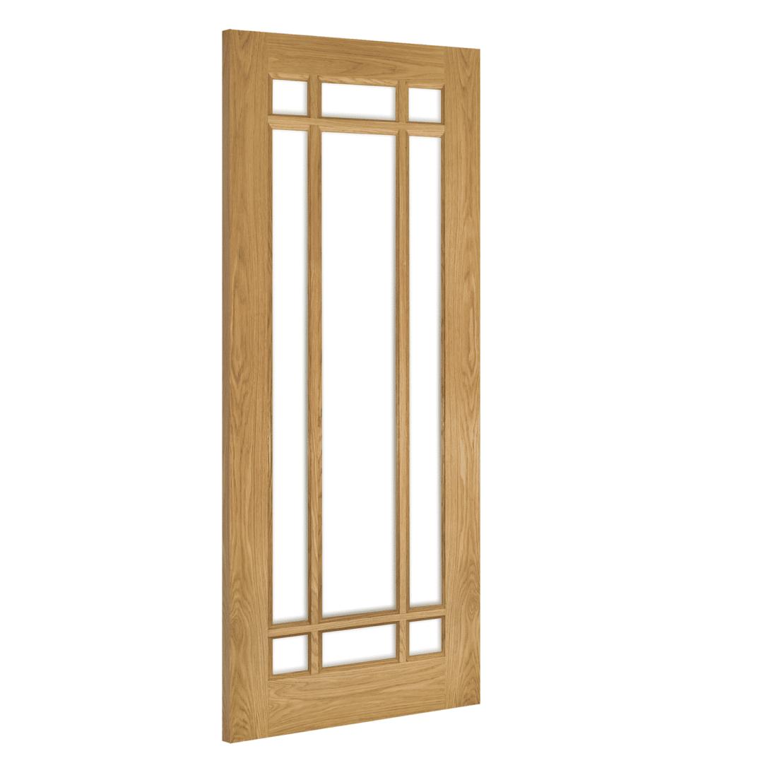 deanta kerry glazed interior oak door