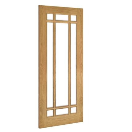 Deanta Kerry Glazed Interior Oak Door - 1981mm-x-610mm-x-35mm