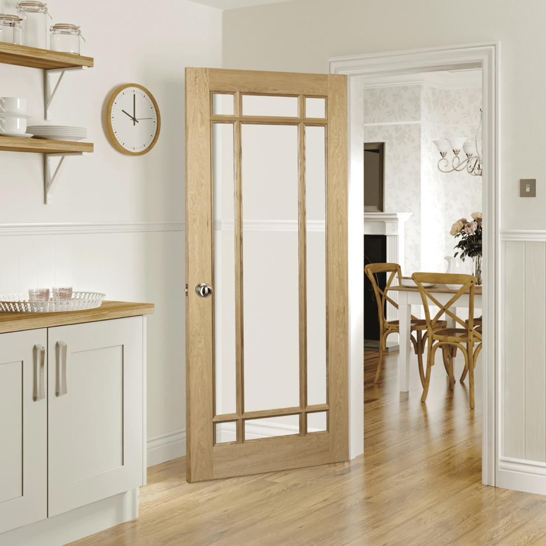 deanta kerry glazed internal oak door