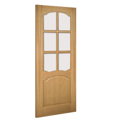 Deanta Louis Glazed Interior Oak Door - 1981mm-x-610mm-x-35mm