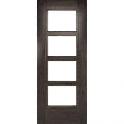 Deanta Montreal Dark Grey Ash Internal Glazed Door - 1981mm-x-610mm-x-35mm
