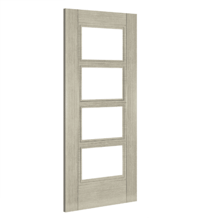 Deanta Montreal Glazed Interior Light Grey Ash Door - 1981mm-x-686mm-x-35mm