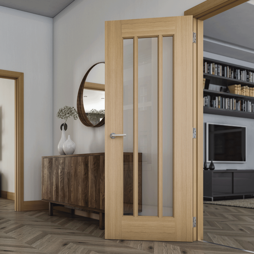deanta norwich glazed internal oak door
