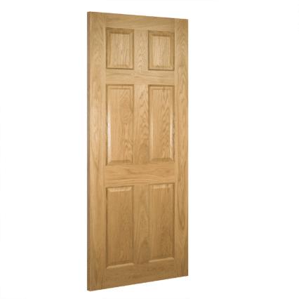 Deanta Oxford Interior Oak Door - 1981mm-x-610mm-x-35mm