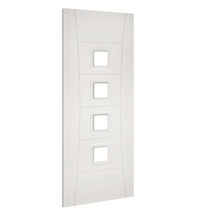 Deanta Pamplona White Glazed Primed Internal Door - 1981mm-x-610mm-x-35mm