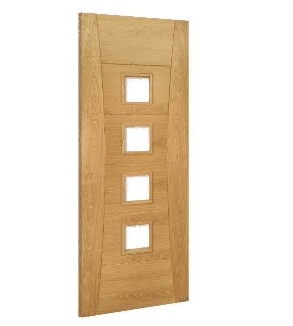 deanta pamplona glazed oak interior door