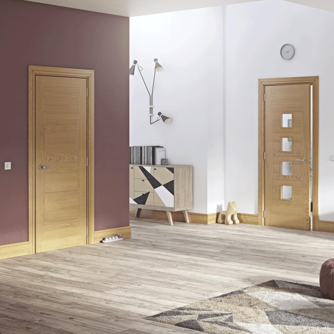 deanta pamplona glazed oak internal door