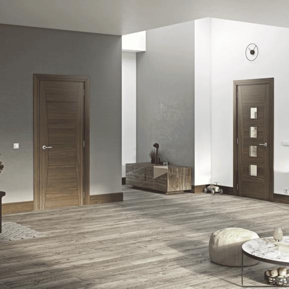 deanta pamplona interior walnut door
