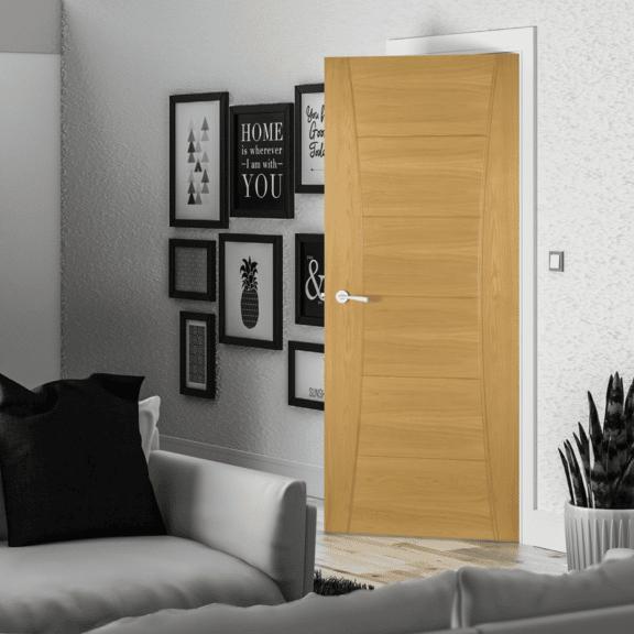 deanta pamplona oak interior door