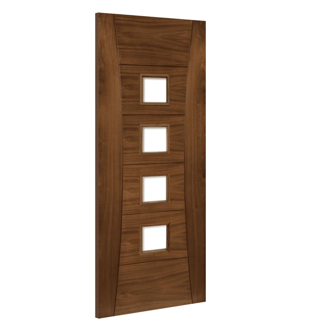 deanta pamplona walnut internal glazed door